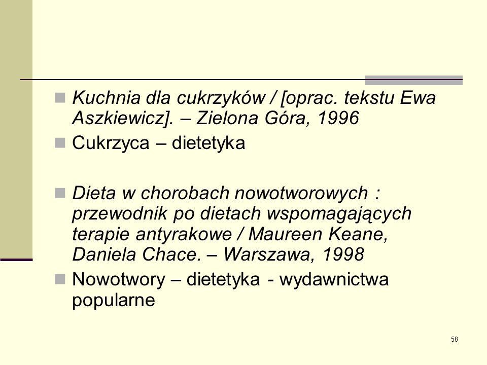 Kuchnia dla cukrzyków / [oprac. tekstu Ewa Aszkiewicz]